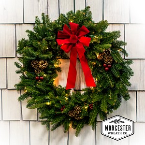 """Classic"" Pre-Lit 30in Wreath 